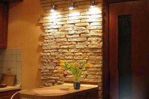 Оформление стен на кухне