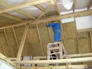 Теплоизоляция крыши, пола и стен в бревенчатом доме